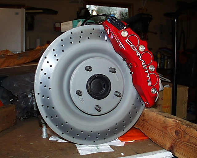 Corvette C4 to C6 Z06 conversion brackets, late spindle